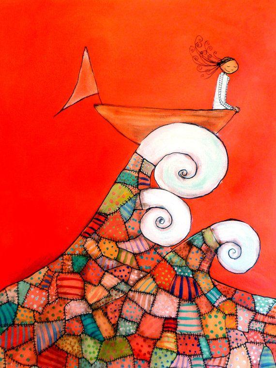 Free as the Sea Archival Print by johannawright on Etsy,