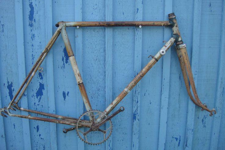 Seltener Rennrad Rahmen Randonneur frühe 50er Jahre Louison Bobet Nervex Muffen…