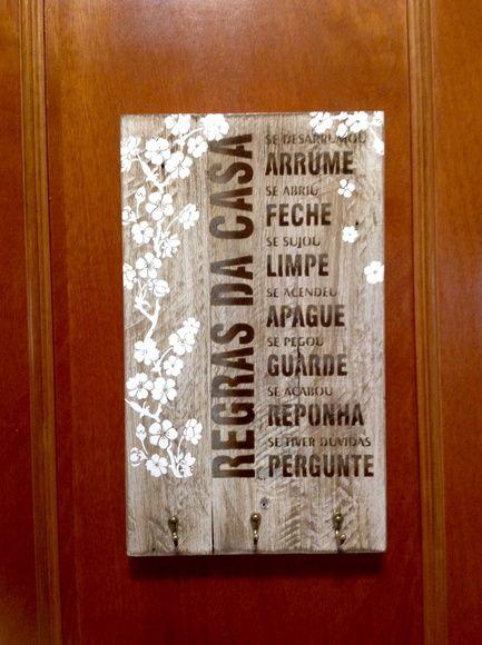 Pallet porta chaves - Regras da casa