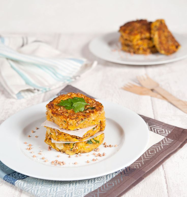Galettes de courge butternut au sarrasin grillé (kasha), recette végétarienne