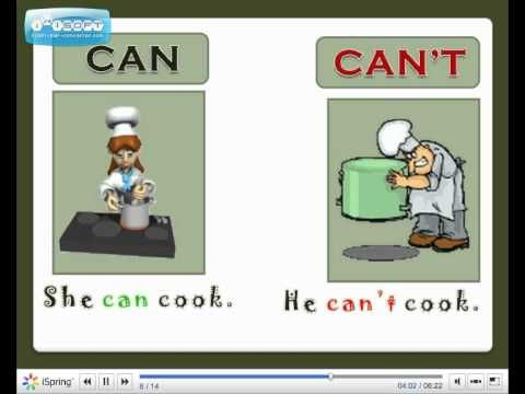 Modal verb Can - English Language