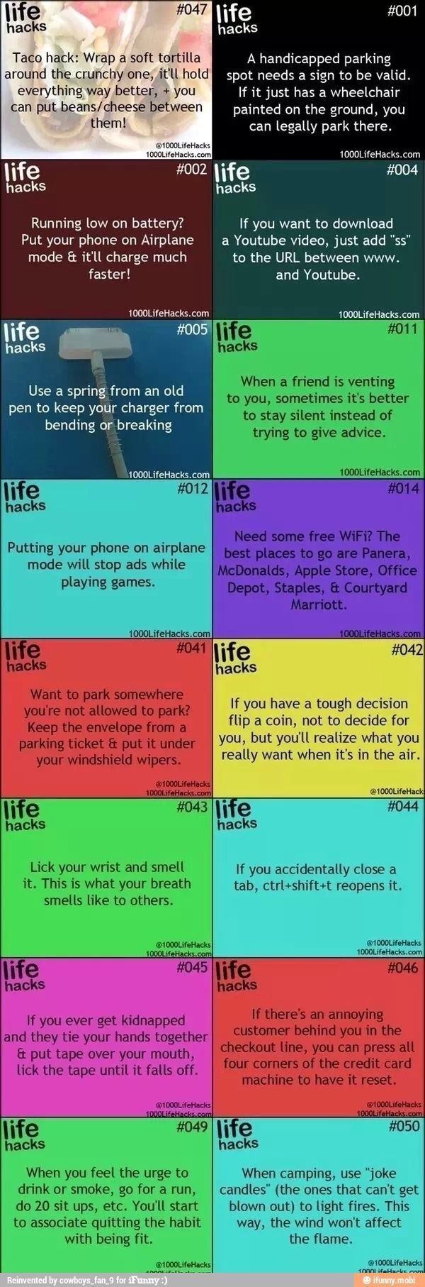 I will definitely use these! Especially the one where you lick your wrist to see what your breath smells like. Lol!! #LifeHack