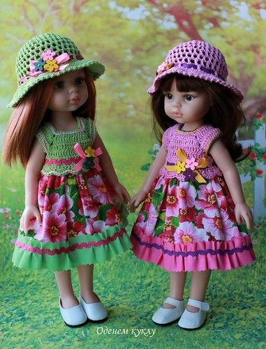 Цветочные платья для со шляпками Паолочки / Одежда для кукол / Шопик. Продать купить куклу / Бэйбики. Куклы фото. Одежда для кукол