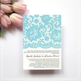Esküvői meghívó – Zöld csipke