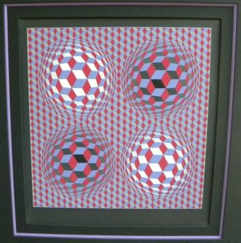 Vasarely, Victor Lithograph, handsigned  Price: $990