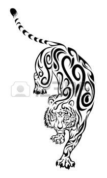 tatouage tribal: Tigre Swirl Tattoo                                                                                                                                                                                 Plus