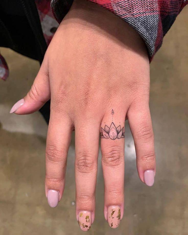 Top 71 Best Cute Small Tattoo Ideas - [2020 Inspiration Guide] | Ring tattoo designs, Finger tattoos, Ring finger tattoos
