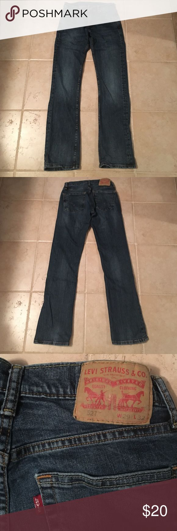Men's boot cut  jeans Levi's waist 29, length 32 slim boot cut men's jeans. My husband wore these a few times, but switched to Carhart jeans. These jeans are in perfect condition. Levi's Jeans Bootcut