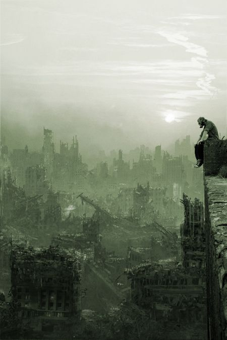 """Look out there... This is what's left of my home. The skeletons of dark and dusty buildings rising from their graven ash. So it's not a matter of going home, you see. It's about building a new one."""