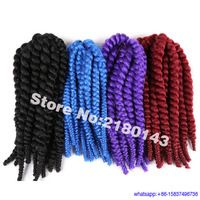 12Inch Colorful 2X Crochet Twist Braiding Hair Cospaly Synthetic braids Hair Afro Senegalese Twist Hairstyle Crochet Jumbo Braid