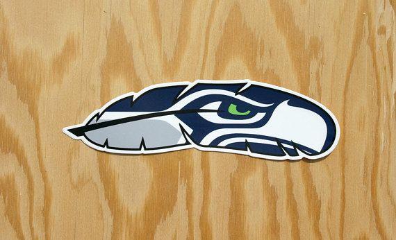 Seattle Seahawks Decal Hawk Feather Seattle Football