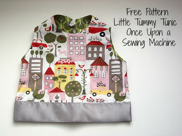 The Little Tummy Tunic, Free pattern and tutorial - Once Upon a Sewing Machine