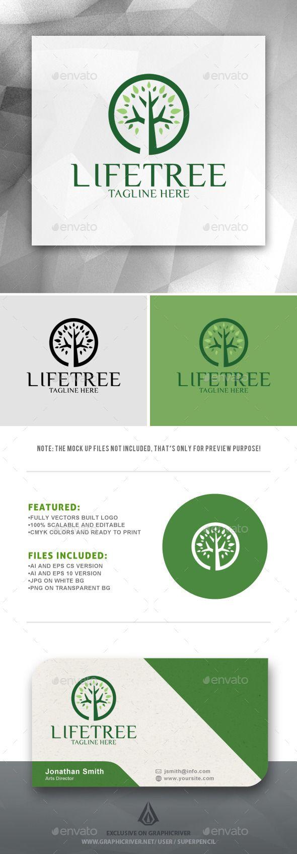 Life Tree Logo (JPG Image, Vector EPS, AI Illustrator, Resizable, CS, app, center, circle tree, eco, ecology logo, environment, food, forest, fund, garden, green, grow, health, leaf, life, live, nature, organic, outdoors, outside, park, plant, power, sharp, smart, spa, tree, wood)