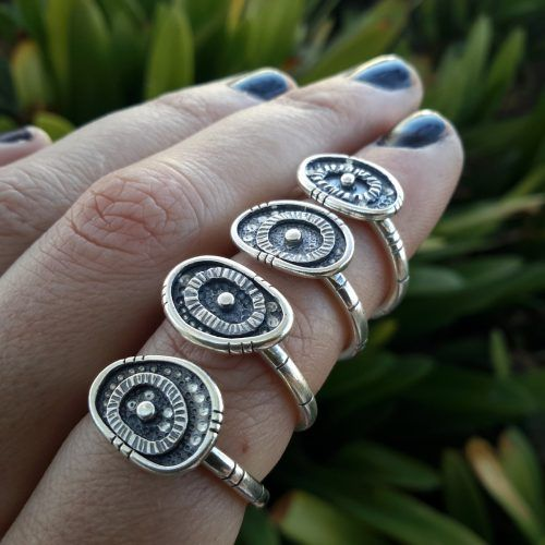 Mini Evil Eye Talisman Ring. Handmade Sterling Silver. Indigenous Jewels. Made to Order. Awake Collection Vol. 1