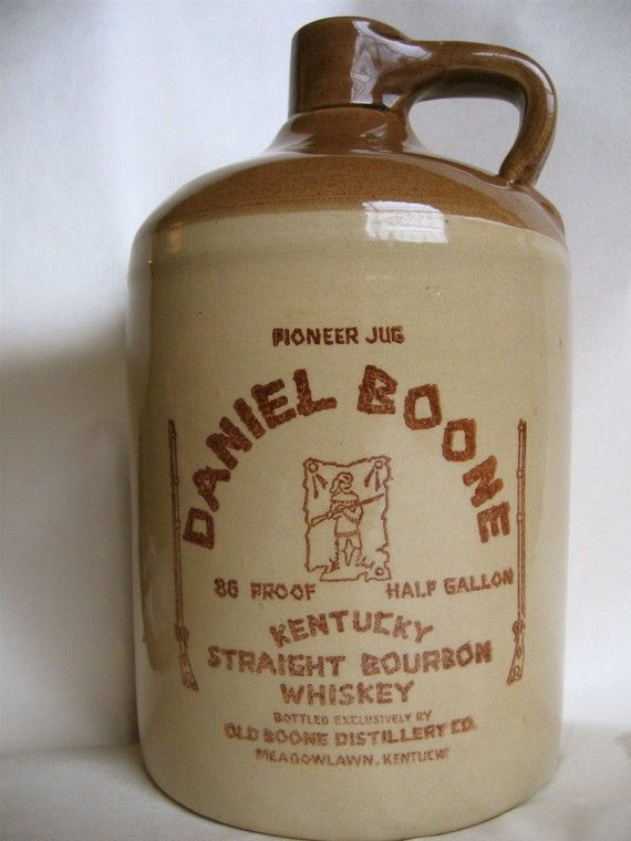 Old Boone Distillery Whiskey Jug Stoneware Whisky