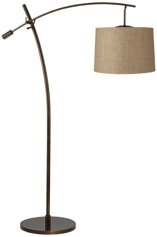bronze 69 inch h arc floor lamp arc lamp arc floor lamps purple floor. Black Bedroom Furniture Sets. Home Design Ideas