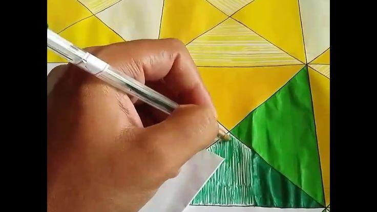 """Obra de Arte """"Brasil"""" em progresso. Caneta bic em folha sulfite."""