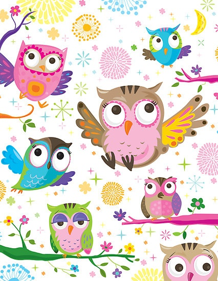 owl pattern ♥ by flamingrhino                                                                                                                                                      More