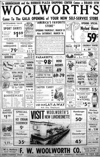 Old Woolworth Ad, check out those prices {I used to love to buy canvas mary jane shoes at woolworths!}