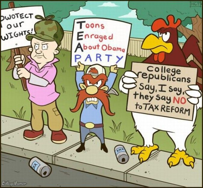 Funny Political Cartoons for Students | ... 05 675x625 If Cartoon Characters Were In College funny images