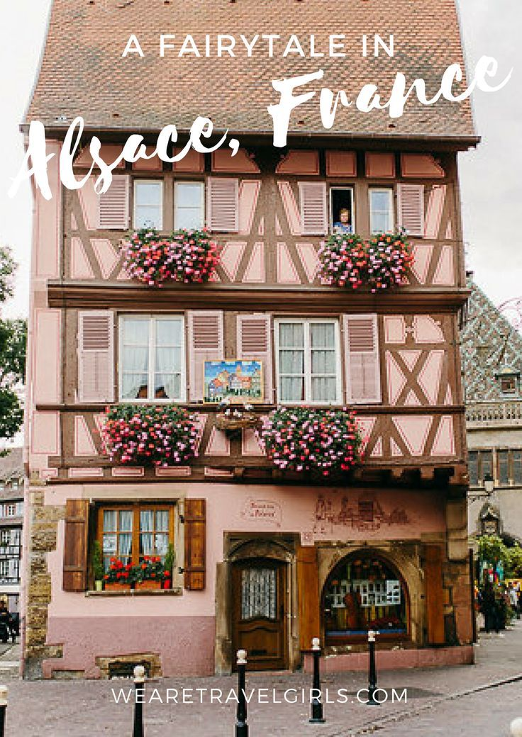 A FAIRYTALE IN ALSACE,FRANCE! Colmar is located in the Alsace region of France and it really feels like one big fairytale town. The houses and shops in Colmar are all intricately decorated. It's so nice to see how much effort everyone seems to put into these things. You constantly looking up for beautiful architecture details or particularly lovely flower pots. Here's a little more of colourful Alsace. By Irene Fiedler for http://WeAreTravelGirls.com