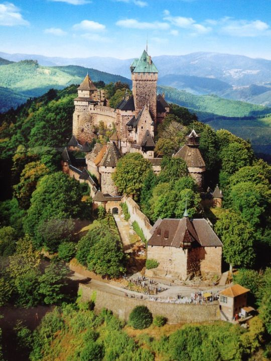 Travel Inspiration for France - Chateau du Haut Koenigsbourg , город Orschwiller, Alsace