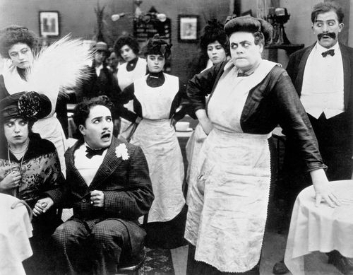 Tillie's Punctured Romance (1914 film) - Mabel Normand, Charles Chaplin and Marie Dressler