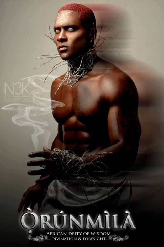 Photo-manipulation by James C. Lewis inspired by Yoruba deities called Orisha - Found via Buzzfeed, artist's website here: http://www.noire3000studios.com/