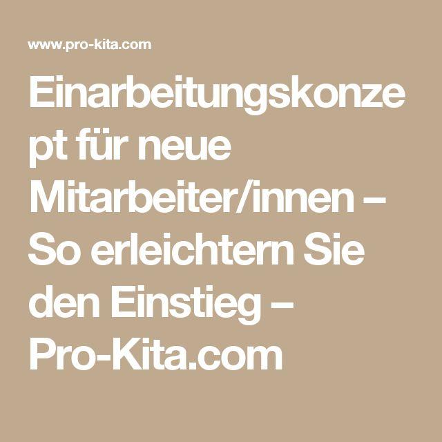Einarbeitungskonzept für neue Mitarbeiter/innen – So erleichtern Sie den Einstieg – Pro-Kita.com