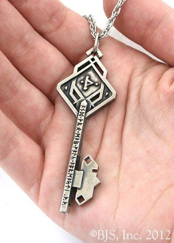 White Bronze Thrór's Key Necklace -The Hobbit Jewelry by Badali