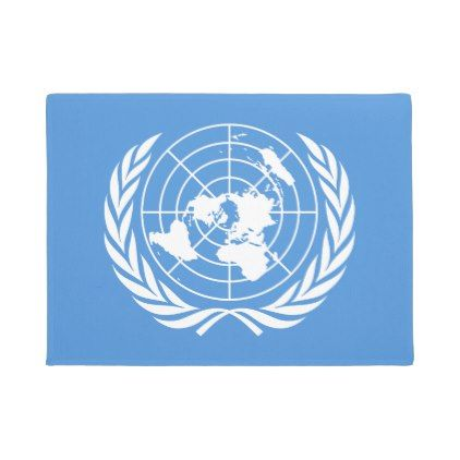#UN Flag Doormat - #doormats #home & #living