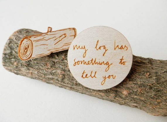 Twin Peaks Brooches - Log Lady This is the best thing ever! Ever! $14.50 by Kate Rowland on #etsy