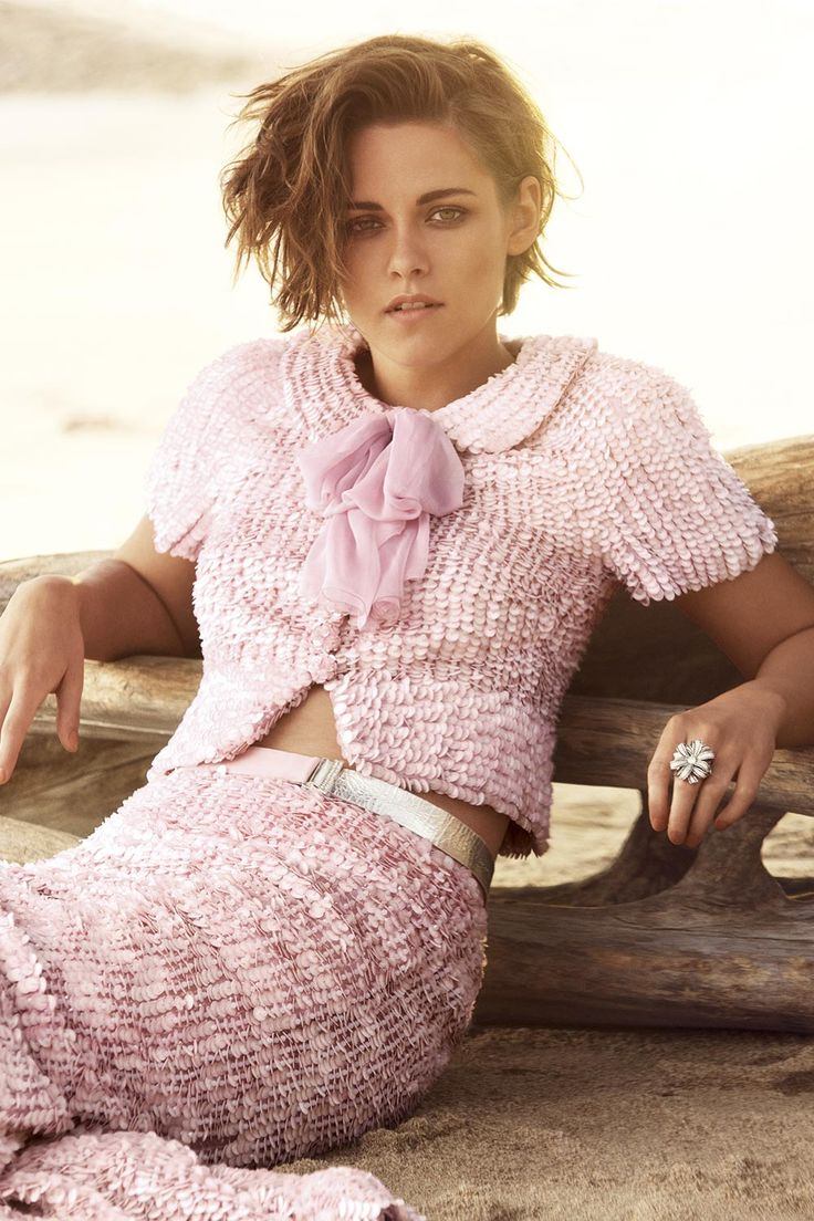 Kristen wears Chanel top and skirt with Chanel fine jewellery| Kristen Stewart Harper's Bazaar UK cover - interview and pictures | Harper's Bazaar