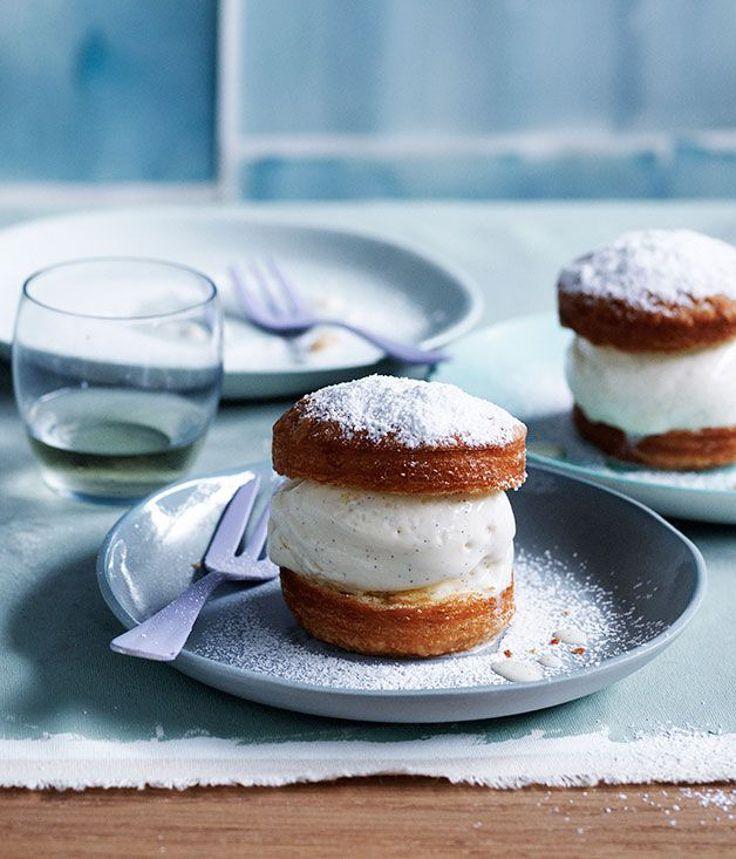 vanilla cream puffs with milk ice-cream | gourmet traveller