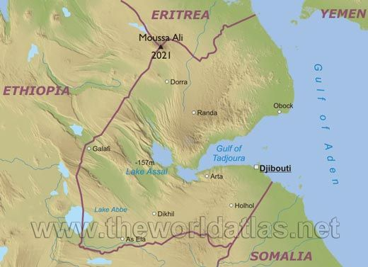 djibouti | Geographical map of Djibouti