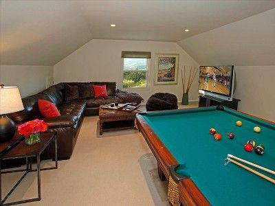 Attic Game Room w/ Pool and Foosball tables
