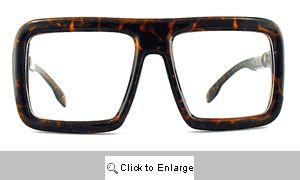 Easton Big Square Clear Lens Glasses - 102 Tortoise