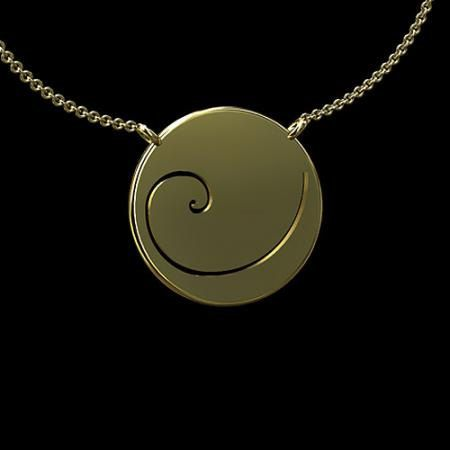 14K Yellow Gold Fibonacci Spiral Phi Golden Ratio by OroSpot