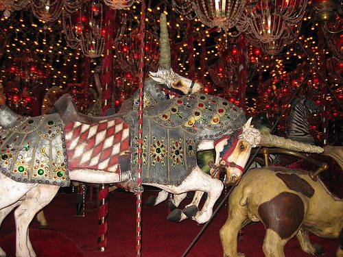 Unicorn Carousel House on the rock