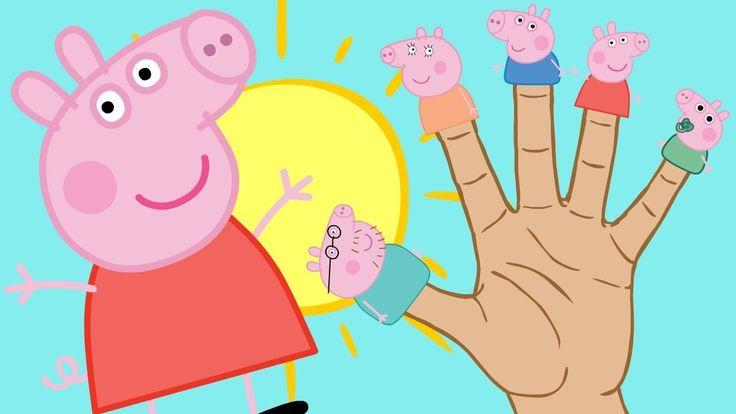 🌟 PEPPA PIG 🌟 Familia Dedo con Peppa, George, Mamá Pig y Papá Pig   Dibu...