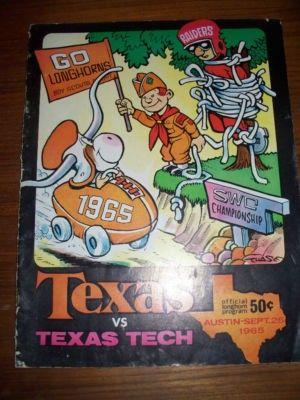 1965 Texas Longhorns v. Texas Tech Red Raiders Football Program (Chase Artwork) | #219221177