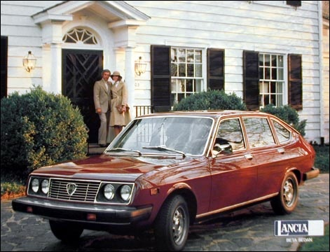 1975 Lancia Beta 4-Door Sedan because this is the car my father had.  Pretty sporty at the time.