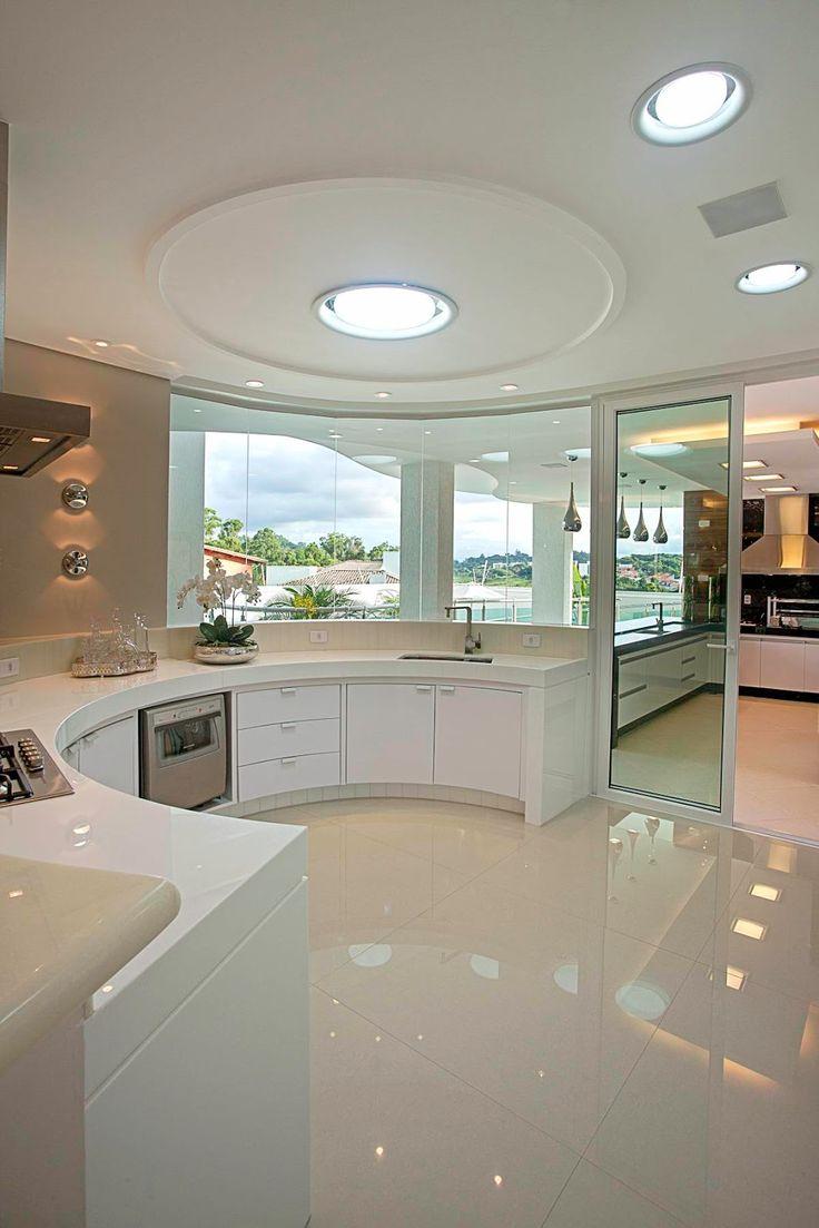 45 Cozinhas Americanas com Ilha em Curva ou Circular! Maravilhosas!!!