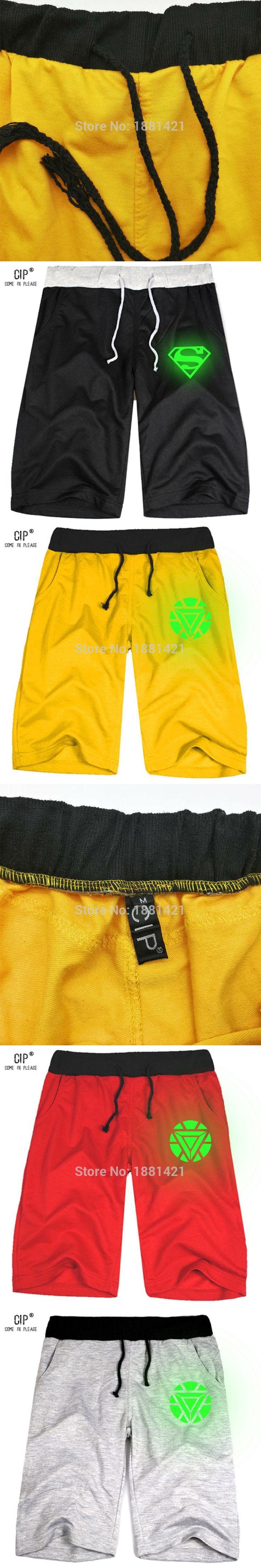 CIP Neon Superman Glow in Dark Brand-clothing Summer Leisure Sporting Shorts Men Trousers Outer Wear Men Shorts Gyms Men Fashion