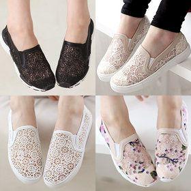 Gmarket - Lace crochet slip-ons / loafers / sneakers / platform ...
