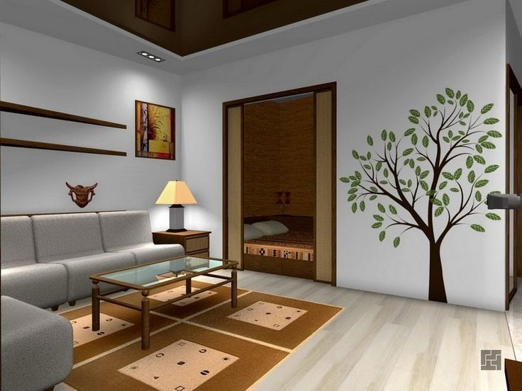 дизайн разделения однокомнатной квартиры для одного - двух человек
