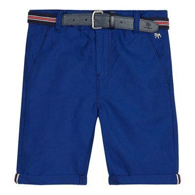 J by Jasper Conran Boys' blue belted Oxford shorts | Debenhams