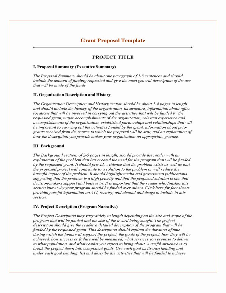 Grant Proposal Template Word In 2020 Proposal Templates Project