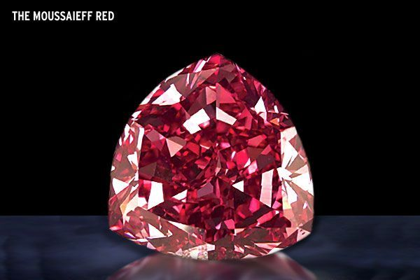 The-Moussaieff-Red-Diamond  The price is $7,000,000.00. This astonishing gem is color red and has a definite size of 5.11 K or 1.022 grams. It has a cone shaped precisely cut that is appraised as striking red according to the intense observation and study of the American Gemological Institute. This gem is a little bit smaller compare to other highly valued diamond but according to the AGI, so far, it is the largest red diamond ever appraised.