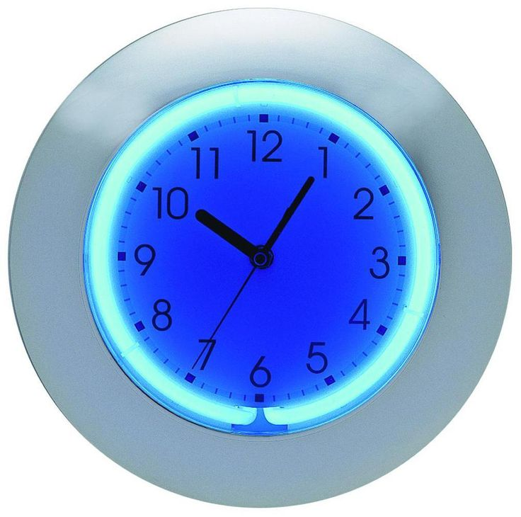 "Blue or Pink Neon 12"" Wide Wall Clock Neon clock"
